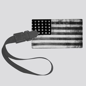 American Vintage Flag Black and  Large Luggage Tag